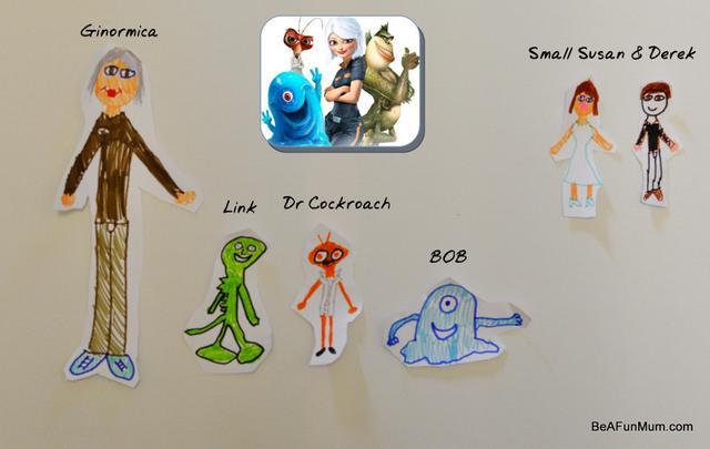 Monster Vs Aliens Drawing Characters Be A Fun Mum