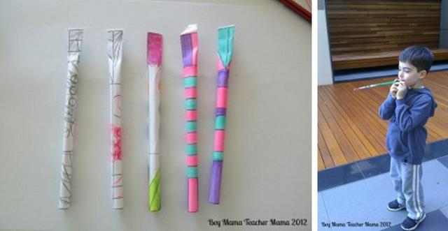 ACTIVITIES FOR BOYS -- straw rockets