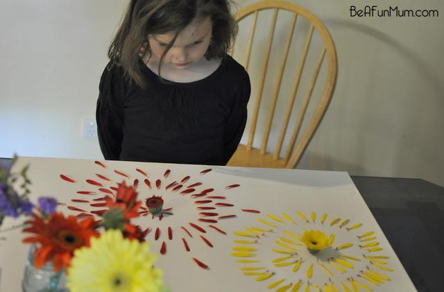 nature crafts -- Decontrusting flowers