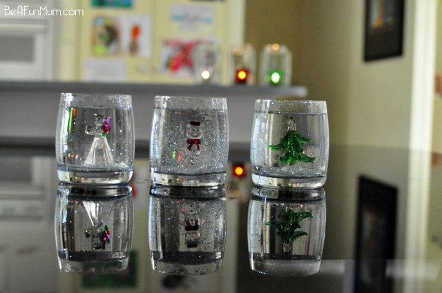 Temporary snow globes for Christmas