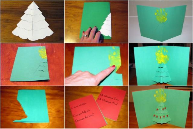 homemade christmas cards pop out christmas tree - Homemade Christmas Cards