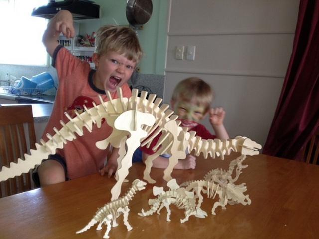 fun on holidays with boys -- dinosaur