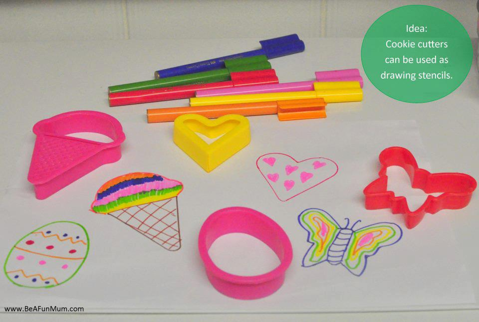 cookie cutters as stencils