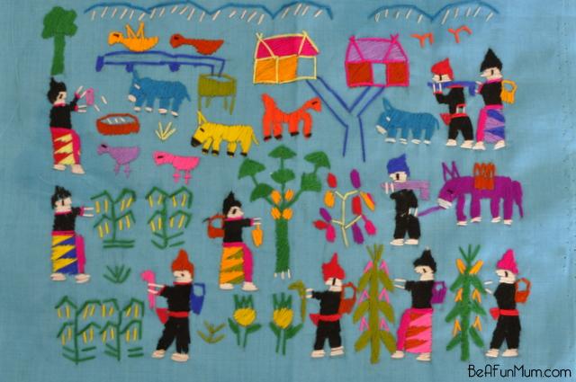 hmong textile -- Laos