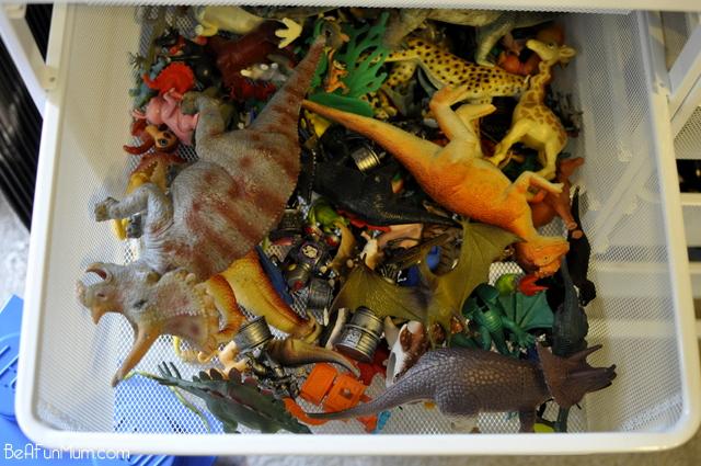 elfa storage system -- organising toys