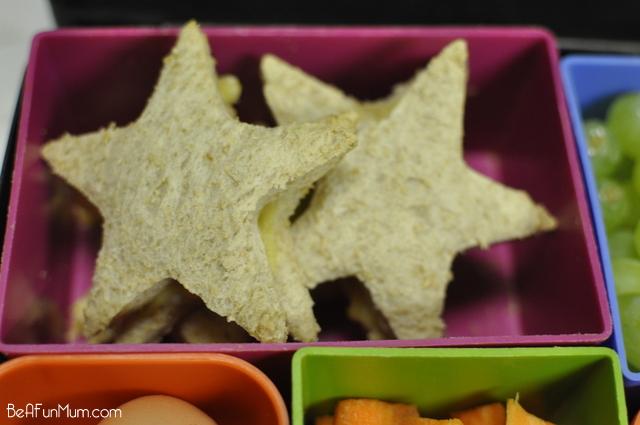 Lunch box ideas - cheesy toasted sandwich bites