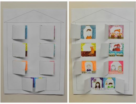 paper craft for kids - who lives in this house