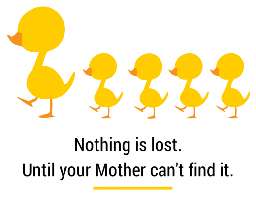 Nothing is lost. Until your mother can't find it.