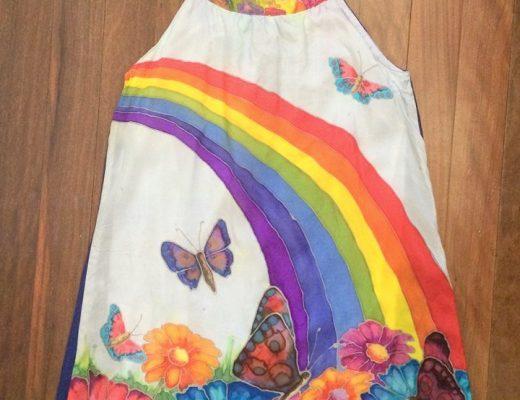Silk Painting -- Dress