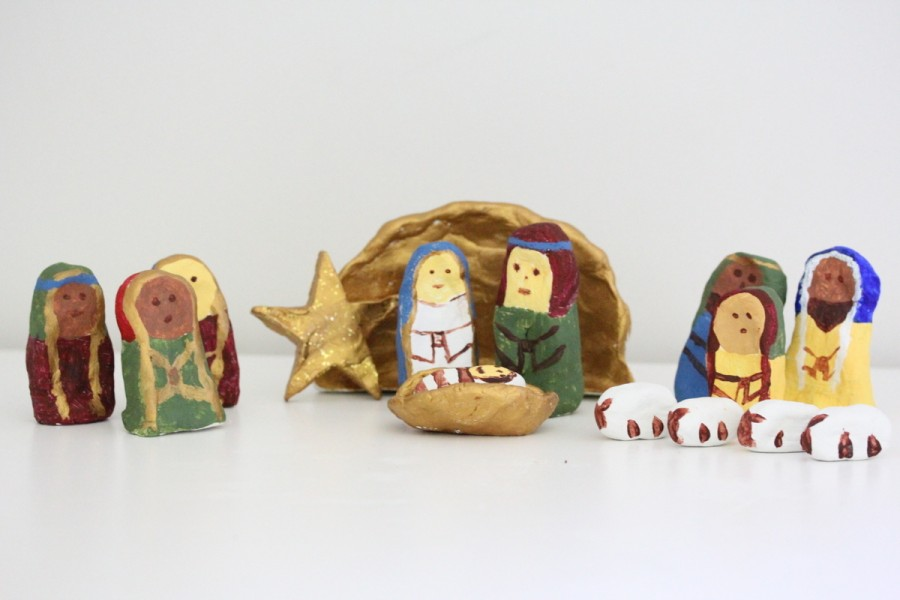 Christmas Air Drying Brown Clay Crafts