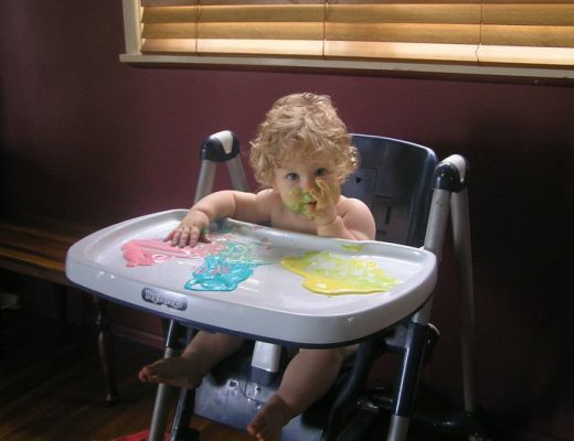 Yoghurt Finger Painting