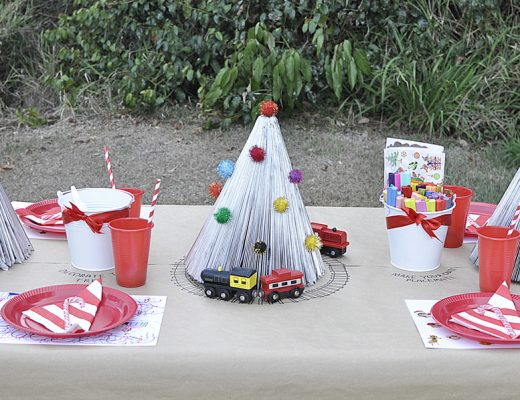 Recycle magazines to make a gorgeous kid friendly table centrepiece