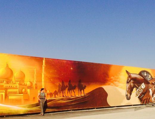 dubai grafitti wall