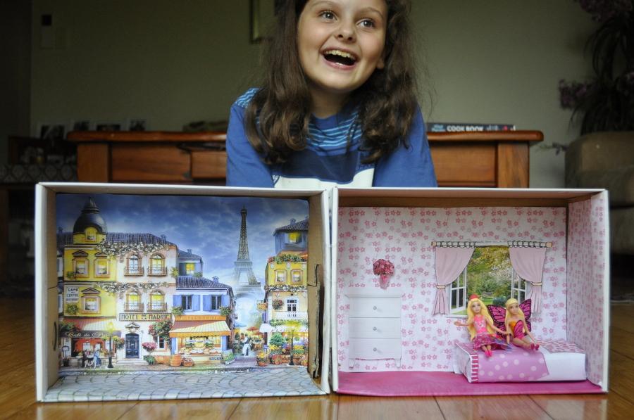 Shoebox Dollhouse Be A Fun Mum