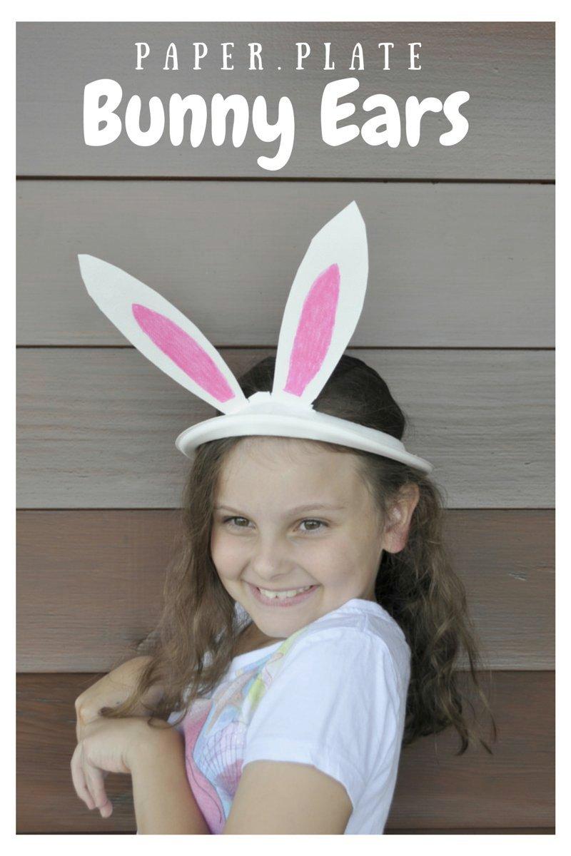 Paper Plate Bunny Ears Template – Be A Fun Mum