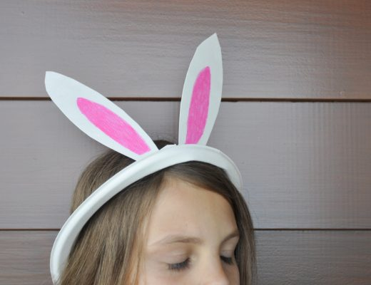 Paper Plate bunny Ears