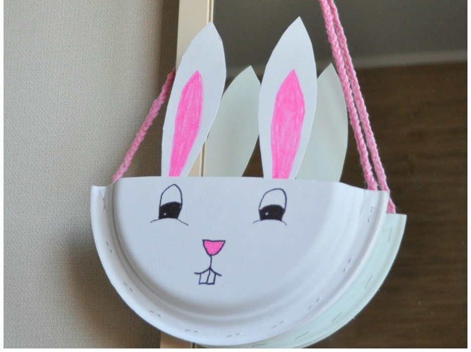Paper Plate Bunny Basket Be A Fun Mum