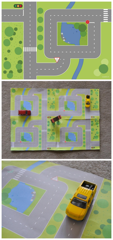 Printable Road Garden Play Mats Be A Fun Mum