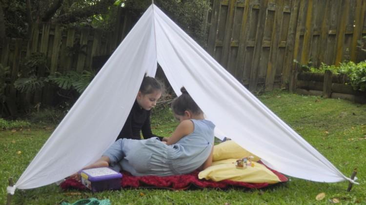 Backyard Sheet Tent & backyard sheet tent | Be A Fun Mum