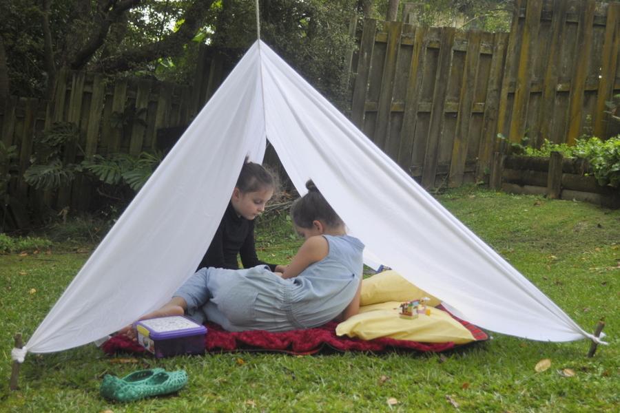 Backyard Sheet Tent