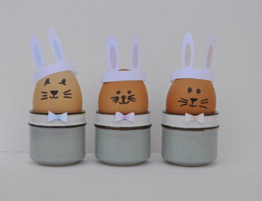 Boiled Egg Bunny Hat Printable