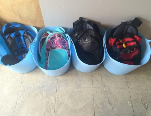 Rubber tubs for school bags