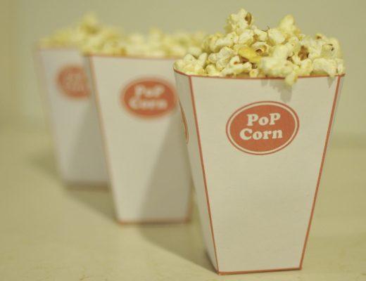 Popcorn Cups - free printable