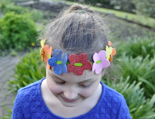 Flower Head Wreath made from craft foam