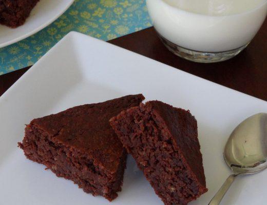 Chocolate & Chickpea Brownies