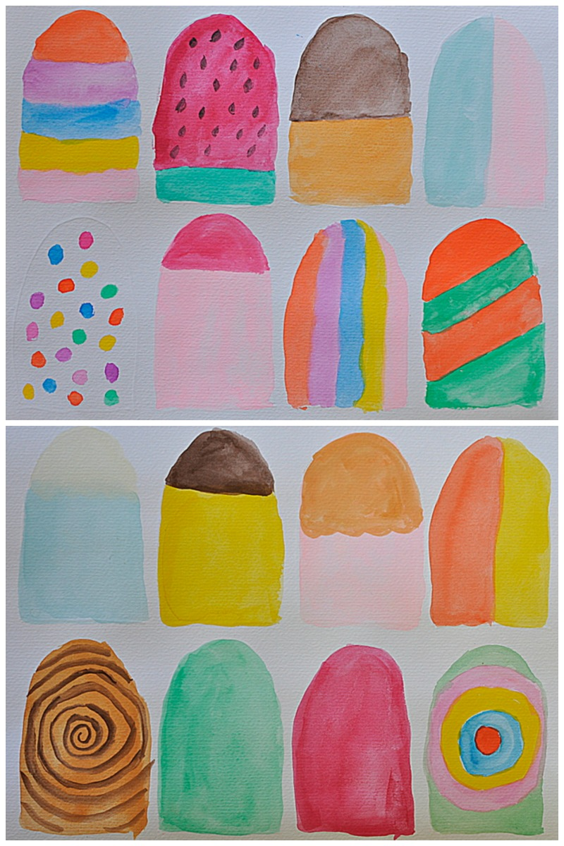 Paper Popsicles - for Imaginative Play - Be A Fun Mum