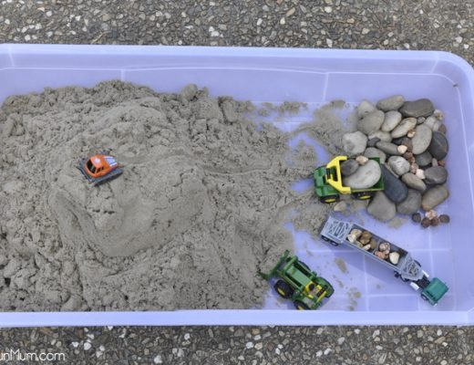 sand play - make a sand box