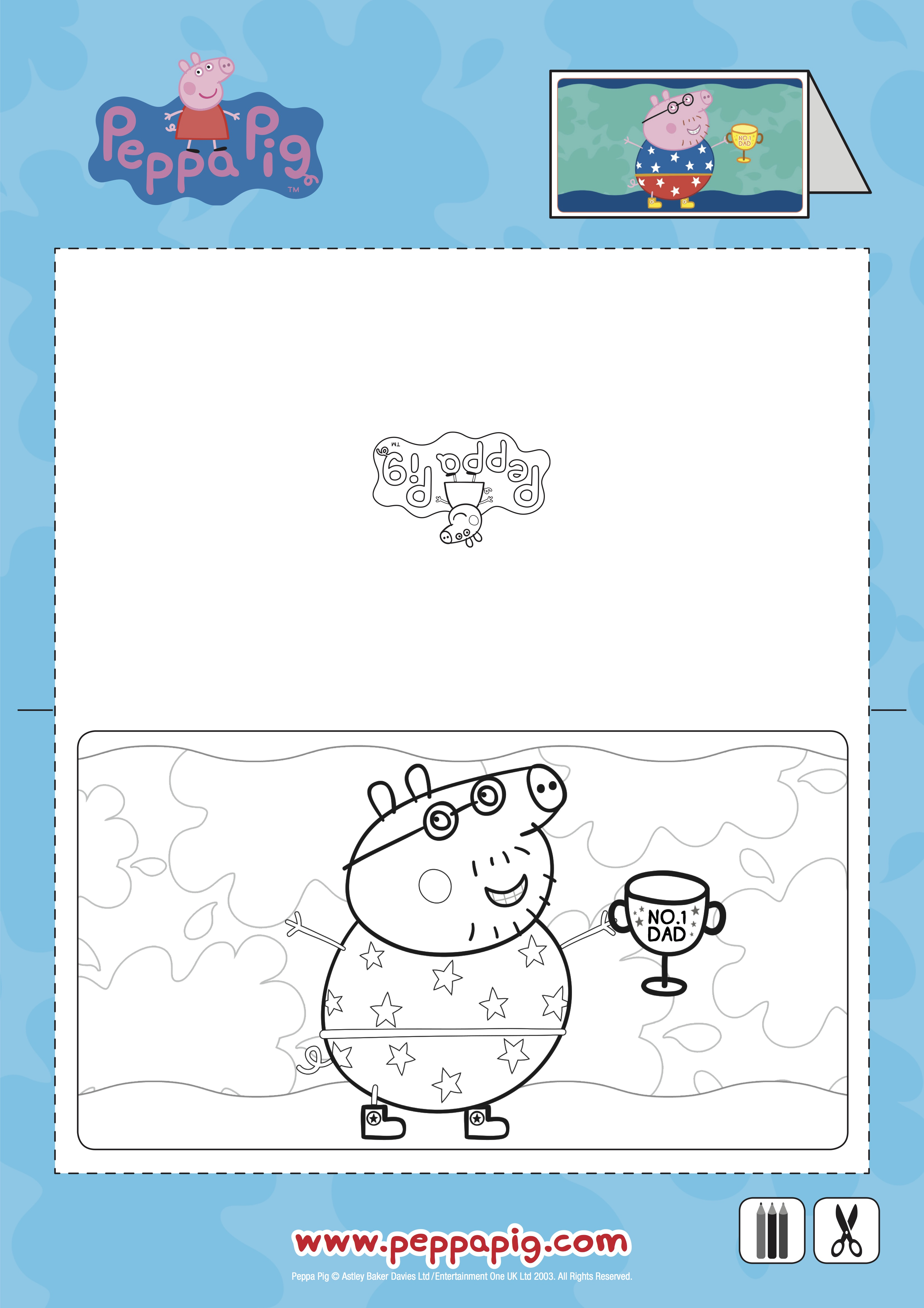 Peppa Pig Father s Day Printable Be A Fun Mum