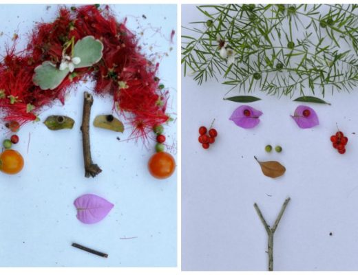 Leaf art - foliage faces