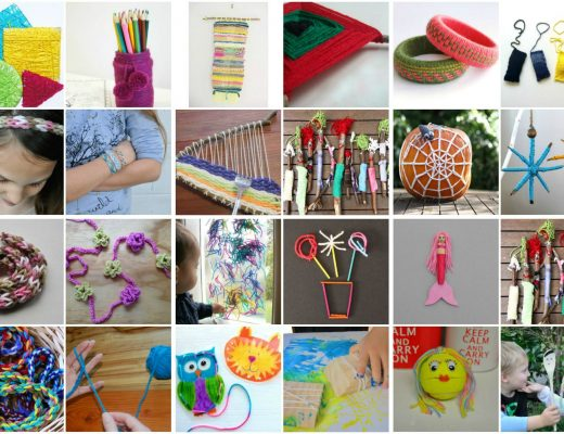 lovely things for kids to do with wool or yarn