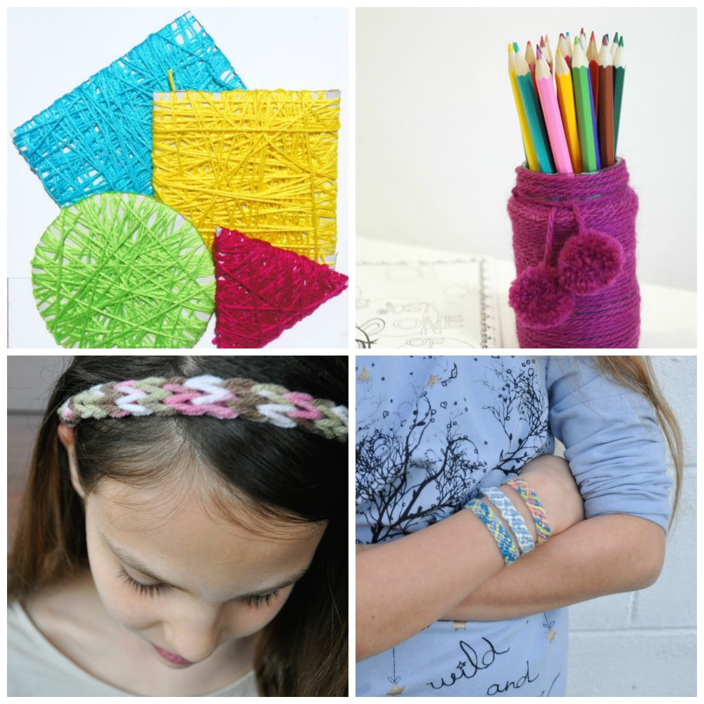 Lots of lovely things for kids to make with wool be a for Craft with woolen thread