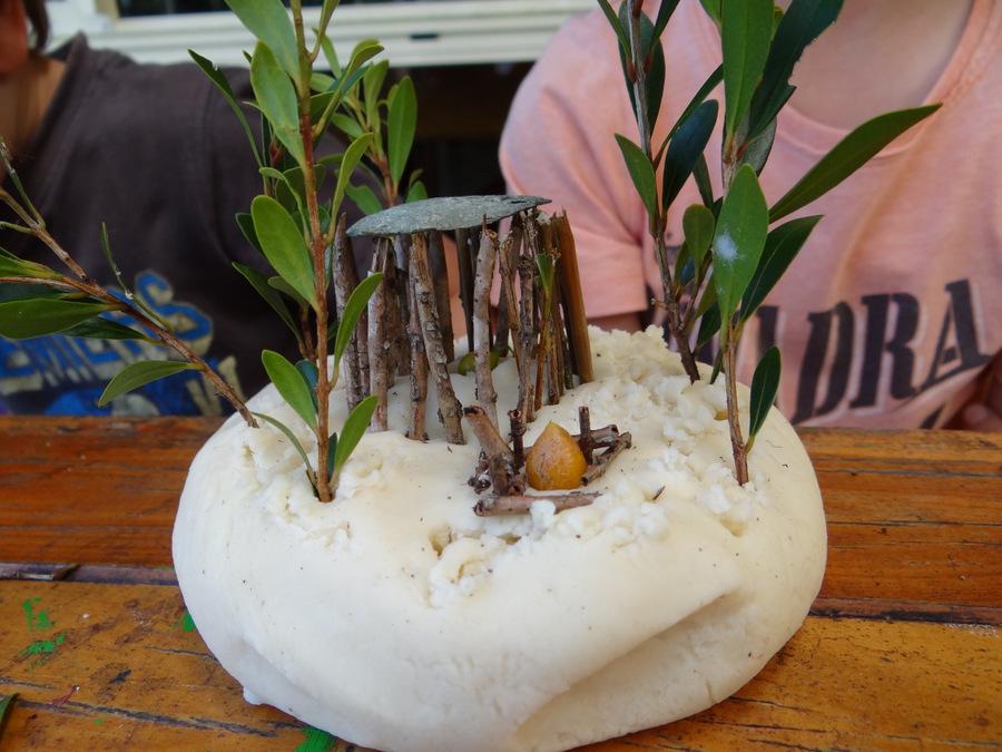 nature craft - playdough nature landscapes