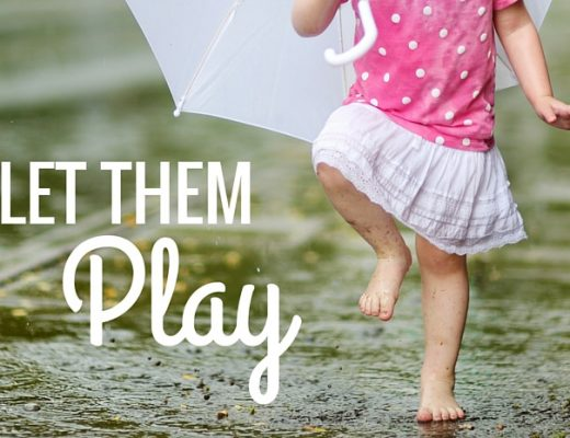 Let them play - the importance of allowing children to play