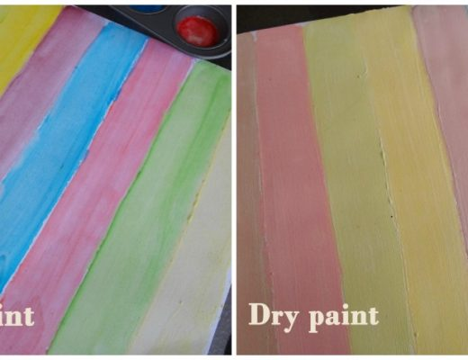 Watercolour wet vs dry watercolour painting