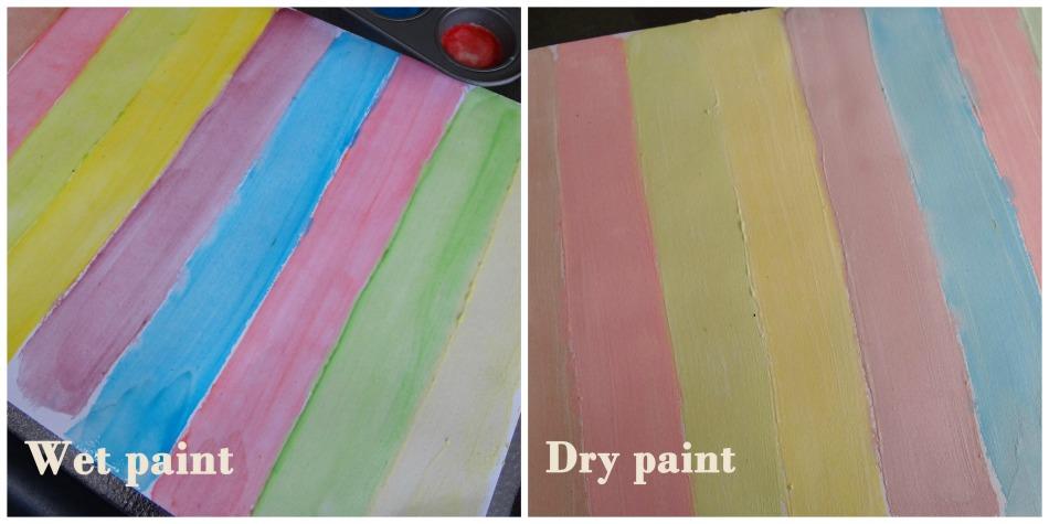 Watercolour wet vs dry watercolour painting