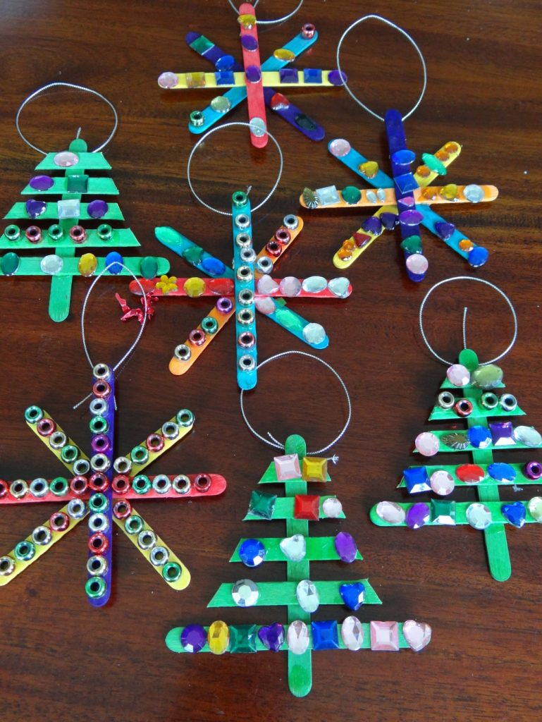 Decorative Ornaments For Living Room: Paddle Pop Christmas Decorations
