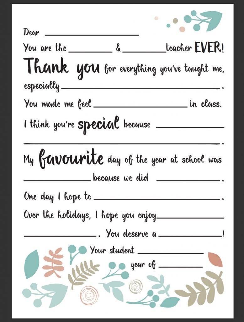 Dear teacher letter be a fun mum for Parent letter from teacher template