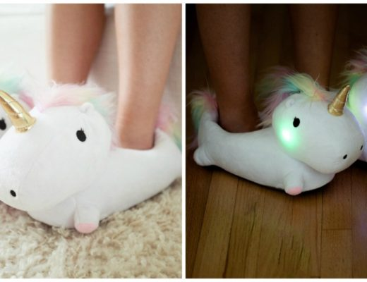 Adorable Unicorn Light Up Slippers