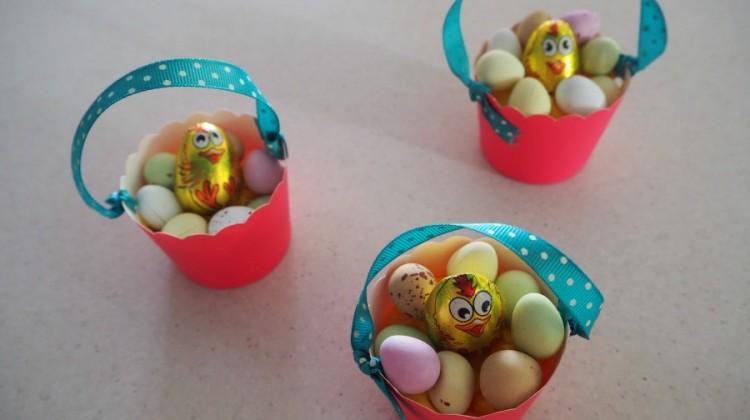Easter Cupcake Case Baskets