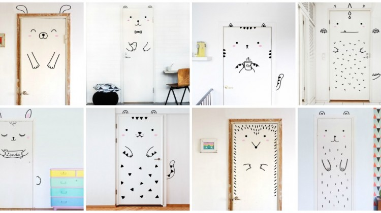 A Simple Way to Decorate a Kids Bedroom: Door Decals