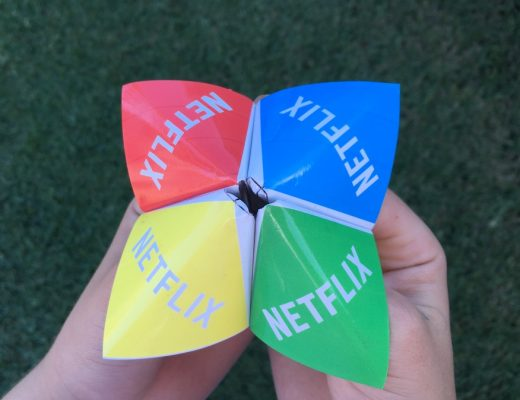How to pick a movie for family night - make a fortune teller!