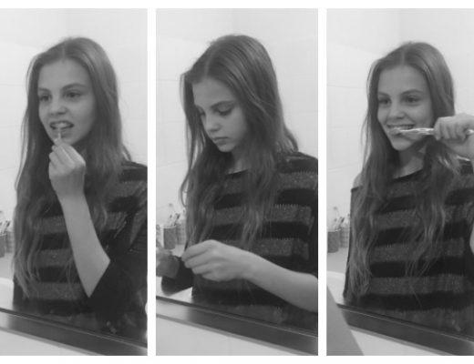 how to brush teeth braces