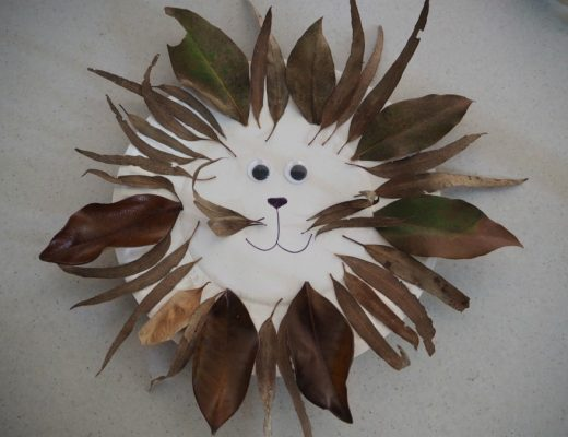 leafy lion paper plate craft
