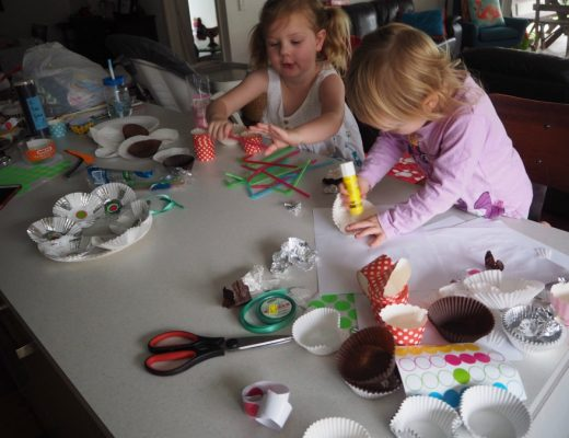 kids doing craft