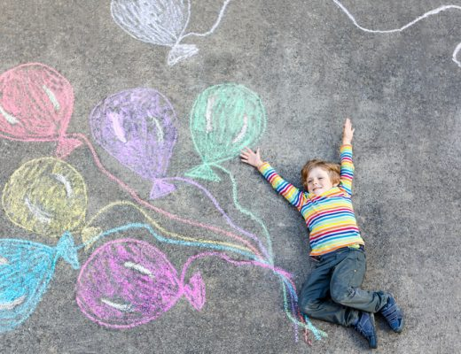 draw a simple cake, candle or message on the driveway to welcome kids home on their birthday