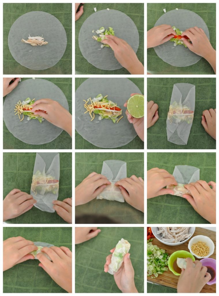 how to make rice paper rolls